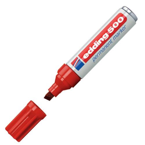 Permanentní popisovač Edding 500, 2-7 mm, červený