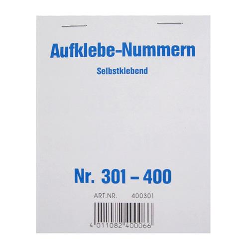 Čísla samolepící Wolf & Appenzeller Čísla 301-400
