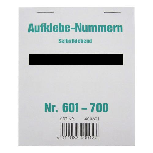 Čísla samolepící Wolf & Appenzeller Čísla 601-700