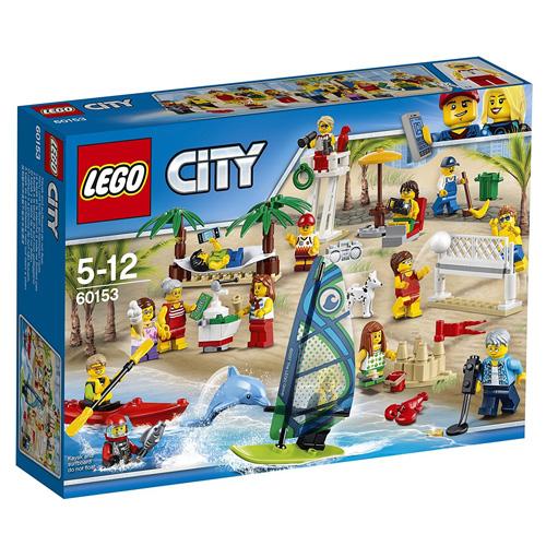 Stavebnice LEGO City Sada postav - Zábava na pláži, 169 dílků