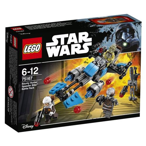 Stavebnice LEGO Star Wars Speederová motorka námezdního lovce, 125 dílků