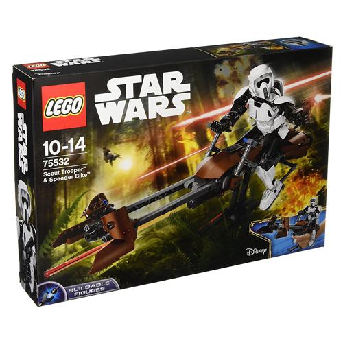 Stavebnice LEGO Star Wars Průzkumný voják a speederová motorka, 452 dílků