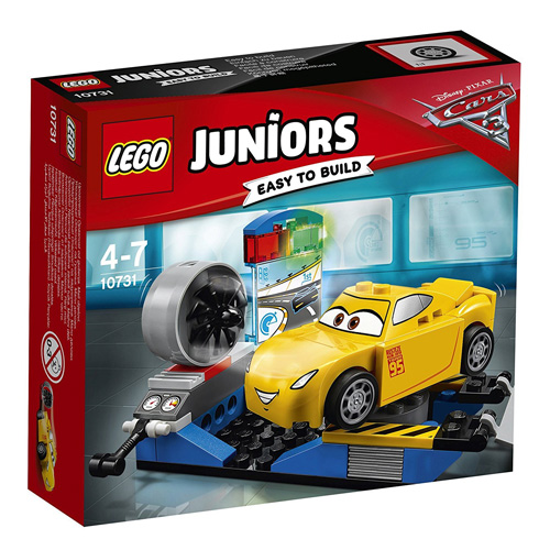 Stavebnice LEGO Juniors Cars Závodní simulátor Cruz Ramirezové, 59 dílků