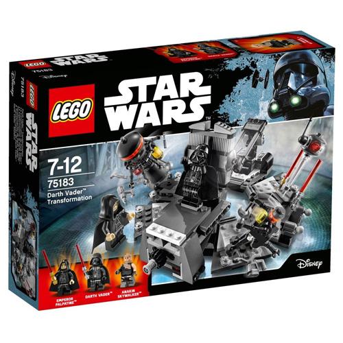 Stavebnice LEGO Star Wars Přeměna Darth Vadera, 282 dílků