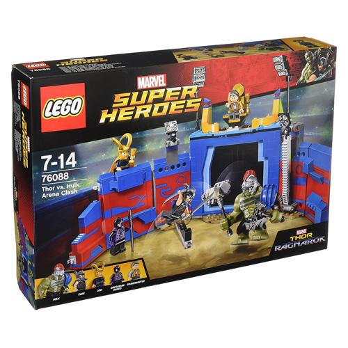 Stavebnice LEGO Marvel Super Heroes Thor vs. Hulk: Souboj v aréně, 492 dílků