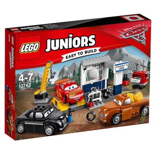 Stavebnice LEGO Juniors Cars Čmoudíkova garáž, 116 dílků