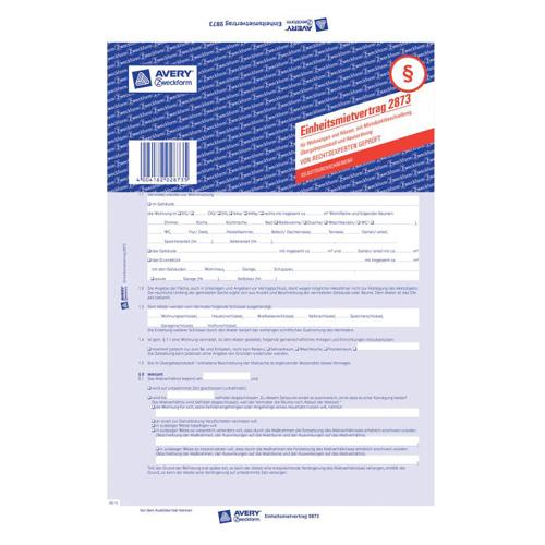 Nájemní smlouva DE Avery Zweckform 2873 pro pronájem bytů a domů, A4, 5 stranná