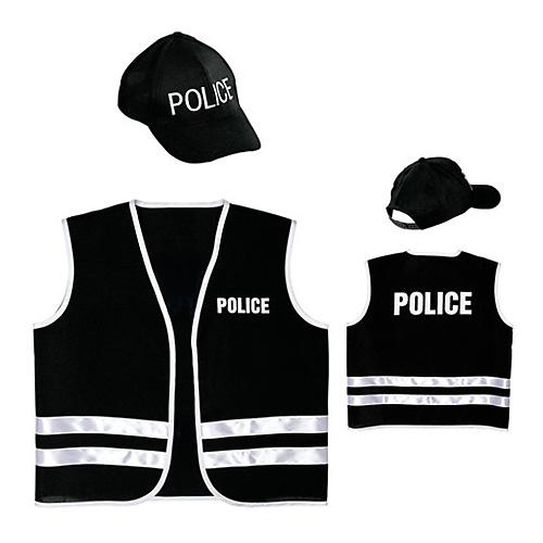 Policejní set Widmann 2 ks - vesta, kšiltovka, vel. 140