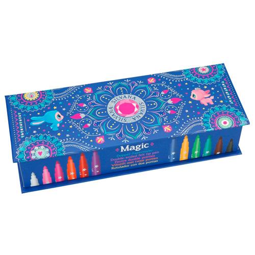 Magické fixy Ylvi and the Minimoomis Měnící barvu, 11 barev + Magic pen