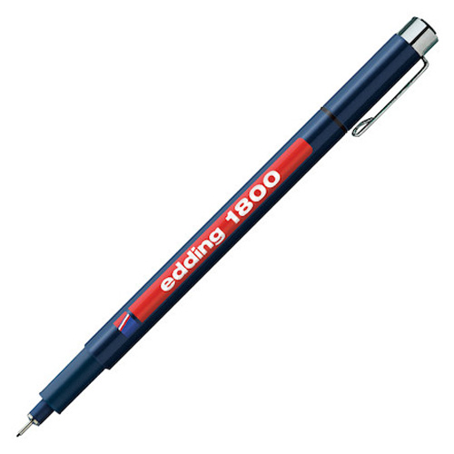 Rýsovací pero Edding 1800, 0.35 mm, černé