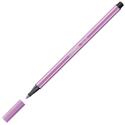 Vláknový fix Stabilo Pen 68, 1 mm, pastelově purpurový