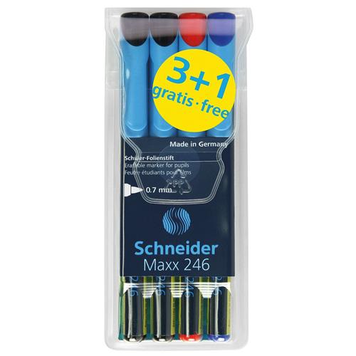 Popisovače 3+1 Schneider Maxx 246, 3+1, 0.7 mm