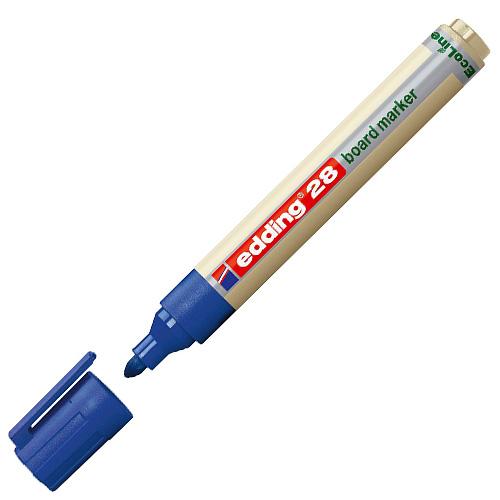 Popisovač na bílé tabule Edding 28, 1.5-3 mm, Ecoline, modrý