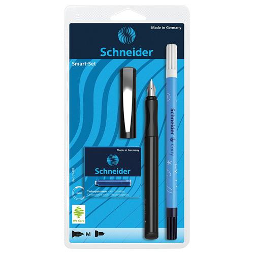 Školní sada Schneider inkoustové pero, náplně, zmizík