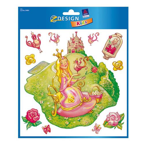 Okenní dekorace Avery Zweckform Z-Design Kids, Princezna