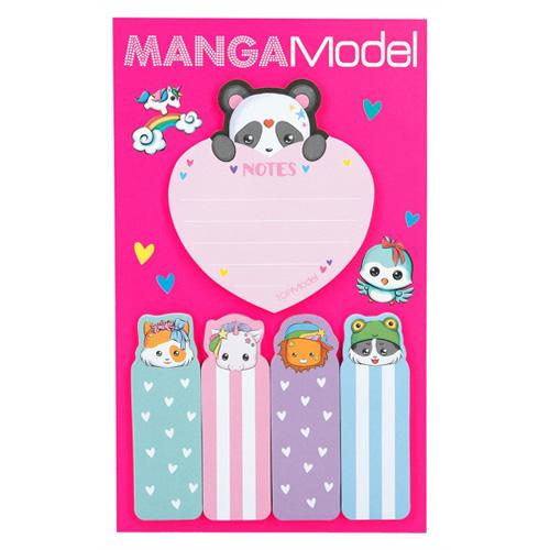 Samolepicí bločky Manga Model ASST Srdíčko, 5 ks