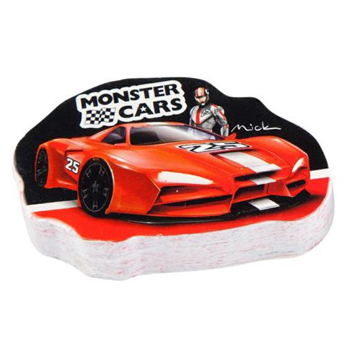 Magický ručník Monster Cars ASST Červené auto, Mick