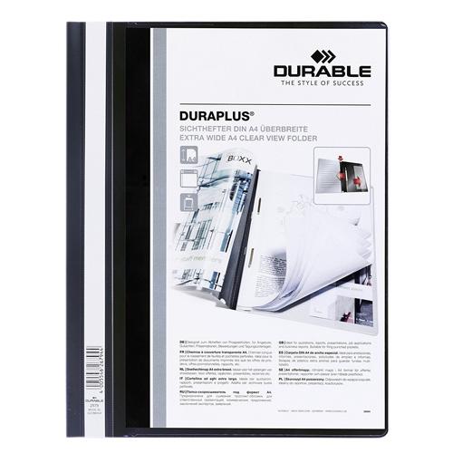 Desky s rychlovazačem Durable Duraplus, A4, černý