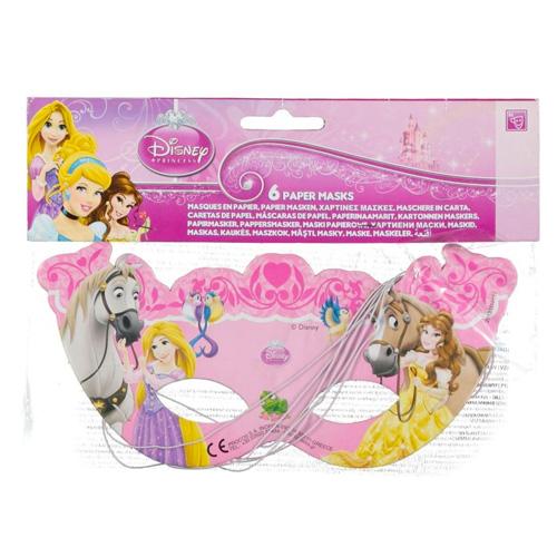 Párty masky Procos Disney Princess, 6 ks