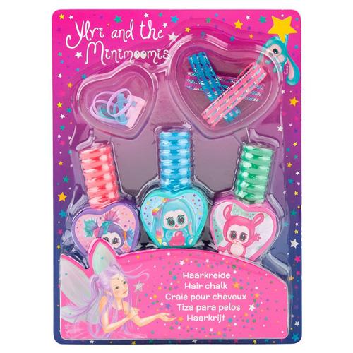 Sada na vlasy Ylvi and the Minimoomis 3 barevné křídy + gumičky