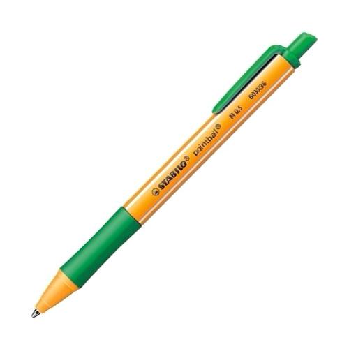Kuličkové pero Stabilo Pointball, 0.5 mm, zelené