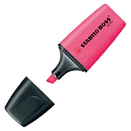 Zvýrazňovač Stabilo Boss Original Mini, růžový