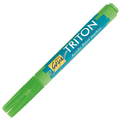 Akrylový fix C.Kreul Triton, 1-4 mm, svítící zelený
