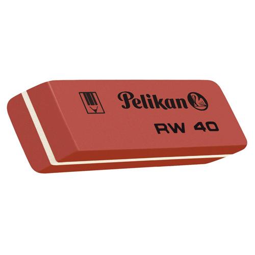 Měkká pryž Pelikan RW 40, na grafitové tužky, červená