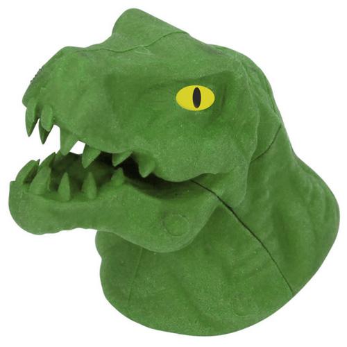 Gumovací pryž Dino World ASST Zelený T-Rex, 3D puzzle