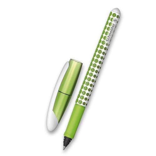 Inkoustové pero Schneider Voyage, 2 náplně, zelené se vzorem