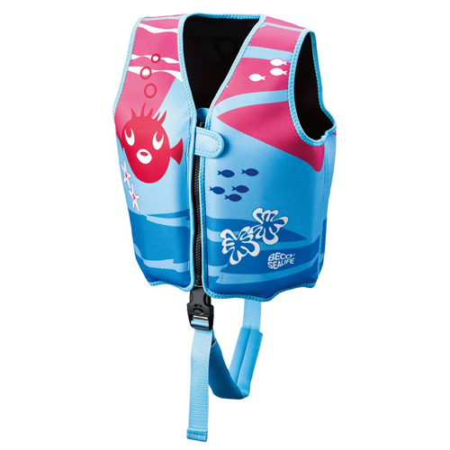 Plavecká vesta Beco Sealife Neoprénová, od 3 do 6 let, modro-růžová