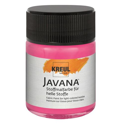 Barva na textil C.Kreul Javana, 50 ml, růžová