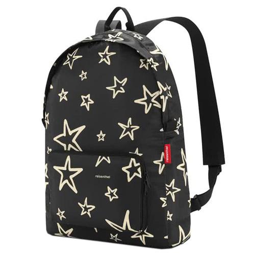 Batoh Reisenthel Černý s hvězdami | mini maxi rucksack