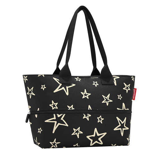 Nákupní taška Reisenthel Černá s hvězdami | shopper e1
