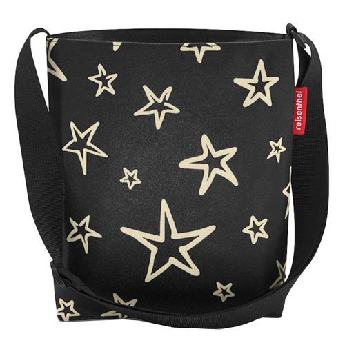 Taška přes rameno Reisenthel Černá s hvězdami | shoulderbag S