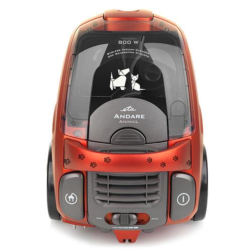 Podlahový vysavač ETA Andare Animal 149390020, červený, A, 77dB, 800W, 2.2l, 230V