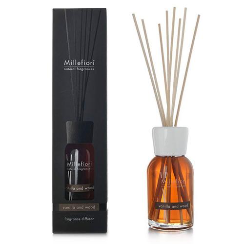 Skleněný difuzér Millefiori Milano Natural, 500ml/Vanilka a dřevo