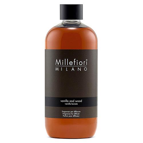 Náplň do difuzéru Millefiori Milano Natural, 500ml/Vanilka a dřevo