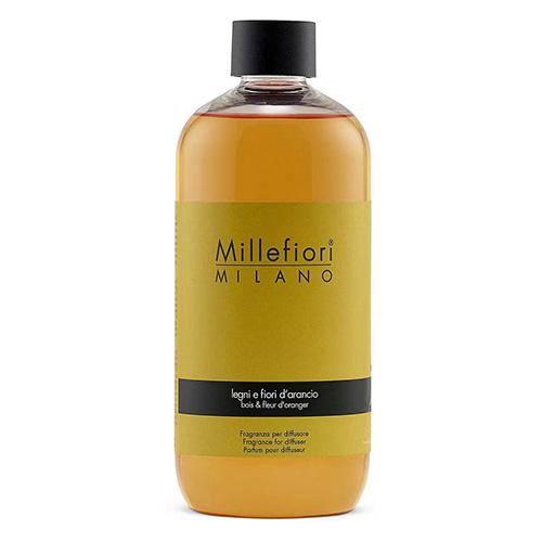 Náplň do difuzéru Millefiori Milano Natural, 500ml/Dřevo a pomerančové květy