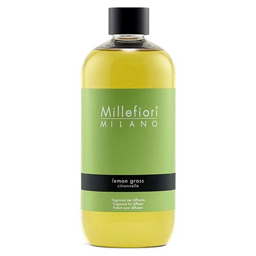 Náplň do difuzéru Millefiori Milano Natural, 500ml/Citrónová tráva
