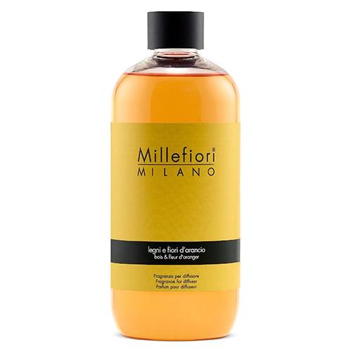 Náplň do difuzéru Millefiori Milano Natural, 250ml/Dřevo a pomerančové květy
