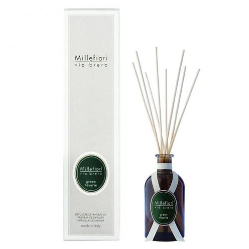 Skleněný difuzér Millefiori Milano Via Brera, 250ml/Zelené snění