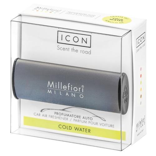 Vůně do auta Millefiori Milano Icon, Classic/Chladná voda, tmavě šedá