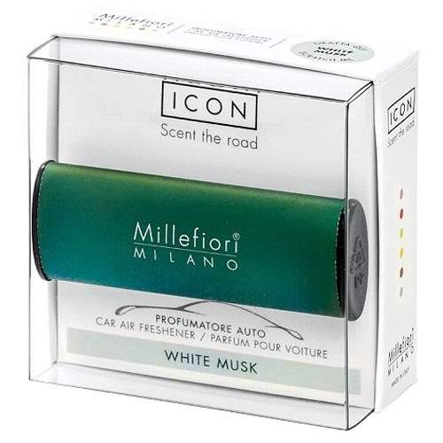Vůně do auta Millefiori Milano Icon, Classic/Bílé pižmo, zelená