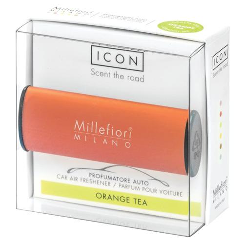 Vůně do auta Millefiori Milano Icon, Classic/Pomerančový čaj, oranžová