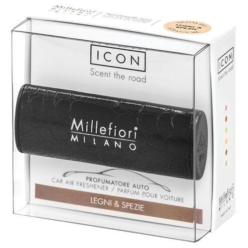 Vůně do auta Millefiori Milano Icon, Urban/Dřevo a koření, černá