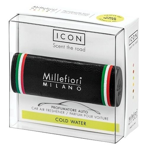 Vůně do auta Millefiori Milano Icon, Urban/Chladná voda, černá
