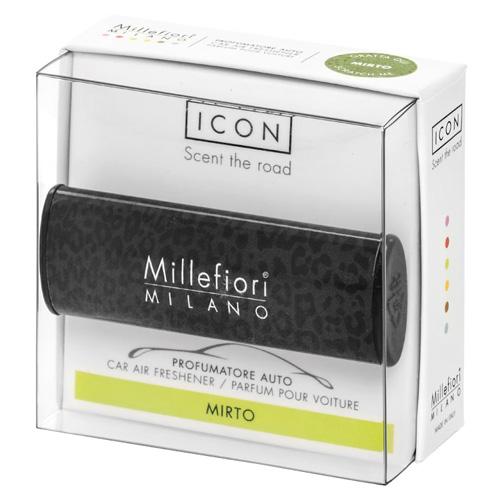 Vůně do auta Millefiori Milano Icon, Animalier/Myrta, černá