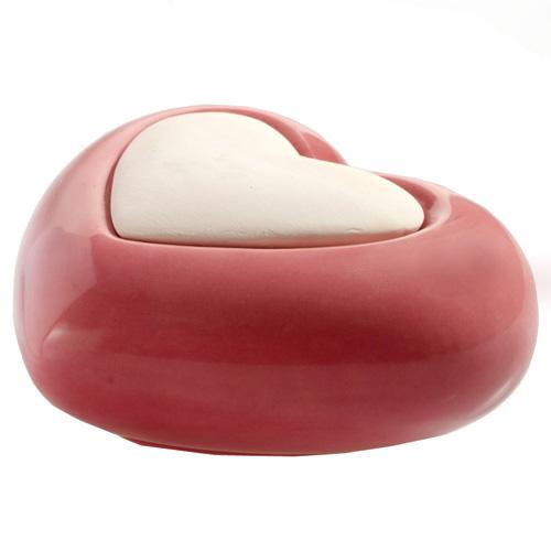 Keramický difuzér Millefiori Milano Air Design, srdce, červený