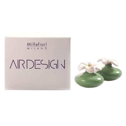 Keramický difuzér Millefiori Milano Air Design, květina mini, 2 ks, zelený